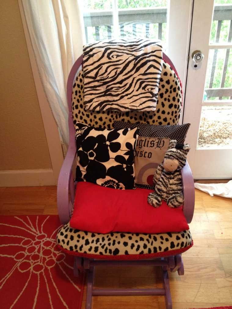 Vintage rocking chair & DIY pillows